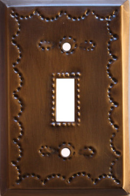 Single Toggle Antique Tin Switchplate