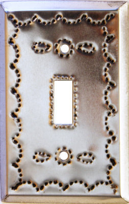 Single Toggle Silver Tin Switchplate