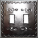 Double Toggle Silver Tin Switchplate
