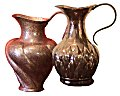 Hancrafted hammered copper pitcher