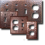 Hammered Copper Switch Plates