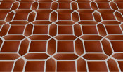 Square Picket Combo Mexican Floor Tile Pattern