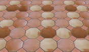 Mexican Floor Tile Octagon Pattern