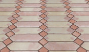 Mexican Floor Tile Picket with Square Inserts Pattern