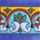 Aqua Border Raised Talavera Mexican Tile