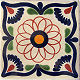 Brown Spiral Talavera Mexican Tile
