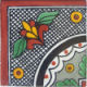 Black Arc Corner Talavera Mexican Tile