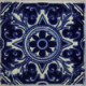 Blue Forest Talavera Mexican Tile