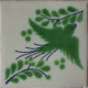 Green Bird Talavera Mexican Tile
