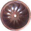 Undermount Hammered Round Shell Bathroom Copper Sink