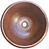 Terra Hammered Round Bathroom Copper Sink