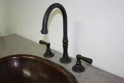 Goose Neck Oil Rubbed Bronze Bathroom Sink Faucet. F120GN-F-OB