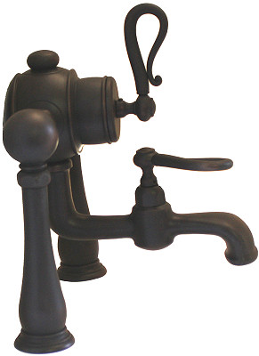 Oil Rubbed Bronze Deck Mount Bathtub Faucet - F335H-ABOC Details