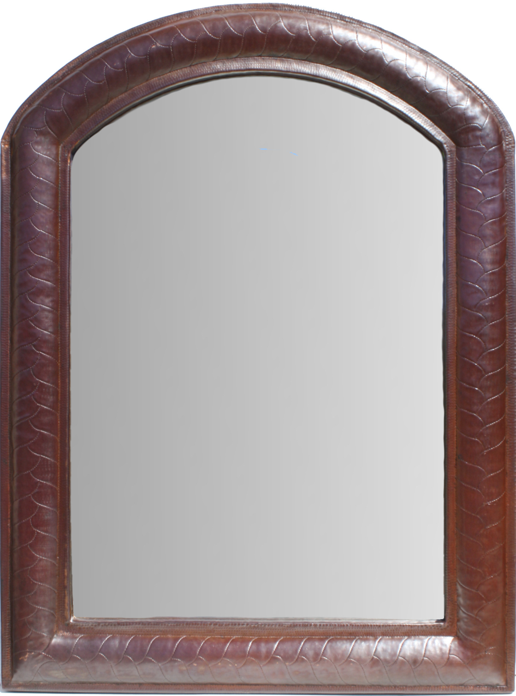 Imperial Hammered Arched Copper Mirror