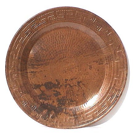 Maze Hammered Copper Plate