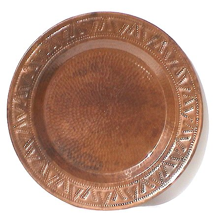 V Hammered Copper Plate