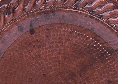Morelia Hammered Copper Plate Close-Up