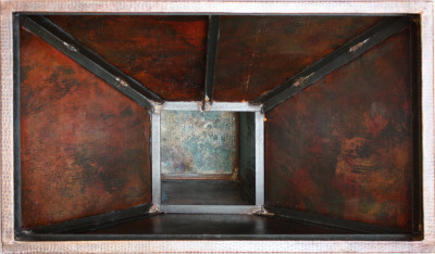 Imperial Hammered Copper Rangehood Close-Up
