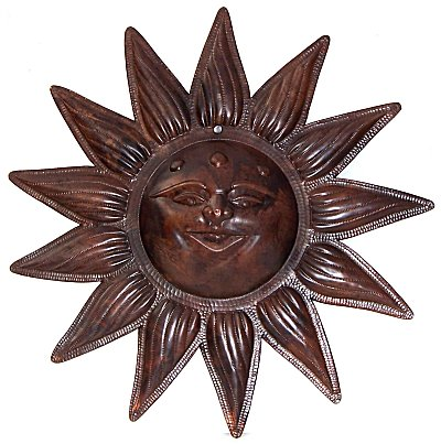 Hammered Weathered Copper Sunface