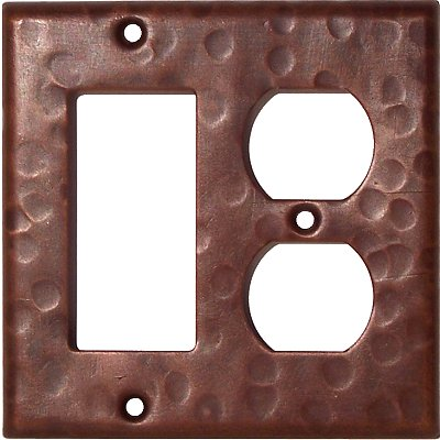 Decora-Duplex Hammered Copper Switch Plate