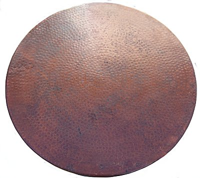 Small Hammered Copper Table Close-Up