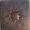 Snail Hammered Copper Tile