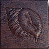 Conch Shell Hammered Copper Tile