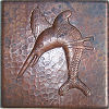 Sword Fish Hammered Copper Tile