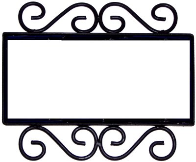 Wrought Iron House Number Frame Mission 3-Tiles