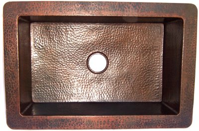 Farmhouse Hammered Copper Kitchen Sink IV
