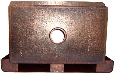 Farmhouse Hammered Copper Kitchen Sink IV Details