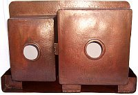 Double Well Farmhouse Hammered Kitchen Copper Sink Details
