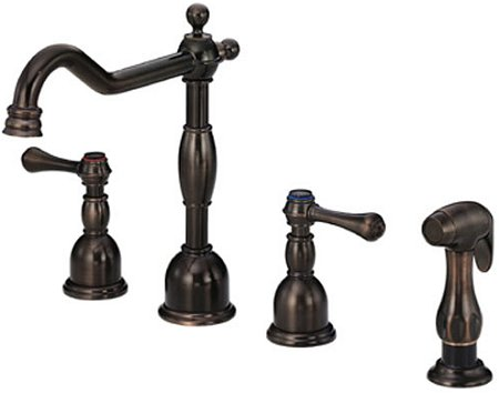 Widespread Oil Rubbed Bronze Two-Handle Kitchen Sink Faucet