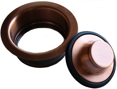 Polished Copper Kitchen Sink Flange - 112/08A 113/08A Close-Up