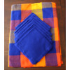 Multicolor Round Mexican Tablecloth 6 Napkins