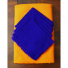 Round Mexican Yellow Tablecloth 6 Napkins