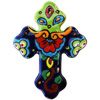 Rainbow Small Talavera Mexican Cross
