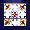 Belmonte Mexican Tile Set Backsplash Mural