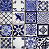 Escalona Mexican Tile Set Backsplash Mural