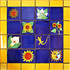Luciana Mexican Tile Set Backsplash Mural