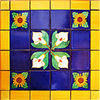 Tavira Mexican Tile Set Backsplash Mural