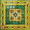 Pobleta Mexican Tile Set Backsplash Mural