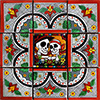 Pamplona Mexican Tile Set Backsplash Mural