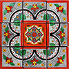 Sopeira Mexican Tile Set Backsplash Mural