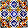 Aren Mexican Tile Set Backsplash Mural