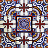 Cardiel Mexican Tile Set Backsplash Mural