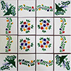 Ventillas Mexican Tile Set Backsplash Mural