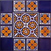 Posadas Mexican Tile Set Backsplash Mural