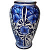 Blue Mermaid Talavera Flower Vase