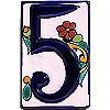 Colonial Talavera Ceramic House Number Five